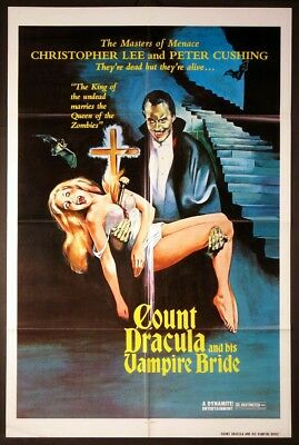 Hammer Films COUNT DRACULA AND HIS VAMPIRE BRIDE 35mm Trailer Christopher Lee