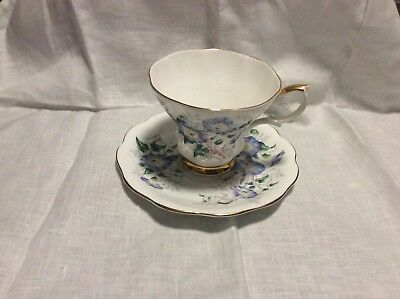 Vintage ROYAL ALBERT Bone China England FRIENDSHIP MORNING GLORY Cup Saucer