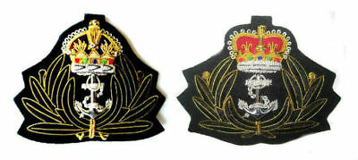 Uk Royal Navy Chaplain Officer Cap Hat Badge King & Queen Crown Cp Made Quality