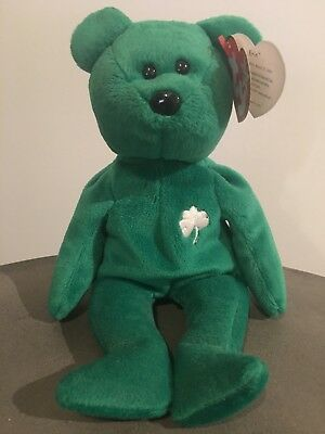 Ty Erin RARE Beanie Baby 1997 with Tag Errors