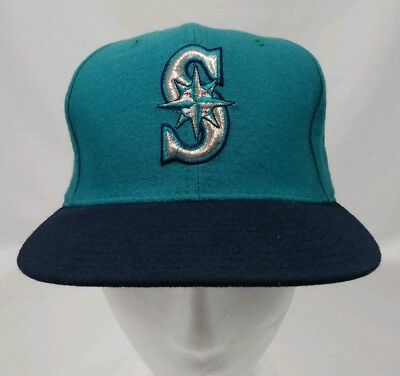 Seattle Mariners MLB Vintage 90 s New Era 5950 Pro Model ADC Fitted Sz 7  Cap Hat b5bc91c28c09