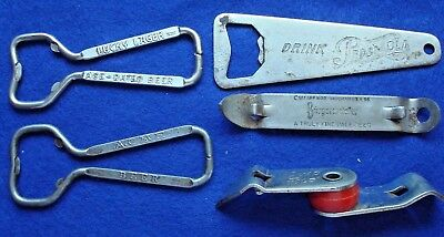 5 Vintage Advertising Bottle and Can Openers