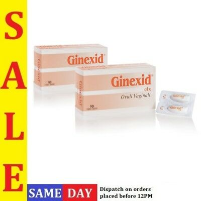 GINEXID Vaginal Ovules x 10 for Women Intimate Hygiene