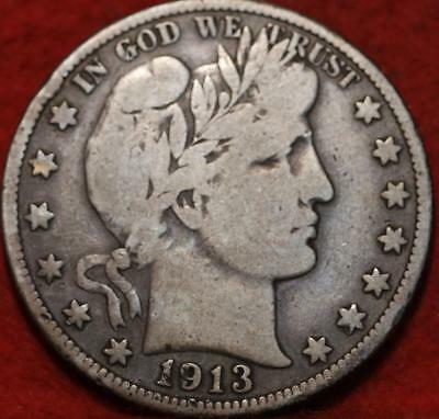 1913-S San Francisco Mint Silver Barber Half Dollar