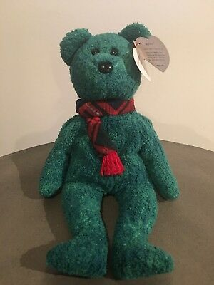 Ty Original Beanie Baby: Wallace With Protective Tag Protector  Mint Condition