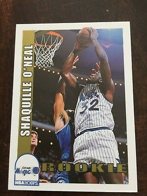 (2) Shaquille O'Neal Rookie cards, 92-93 Hoops and 92-93 Fleer Mt