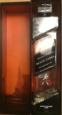 Johnnie Walker Blade Runner 2049 Black Label RARE Collectible Empty Bottle + Box