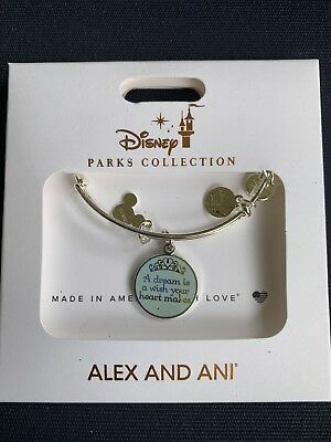 Disney Parks ALEX AND ANI A Dream Is A Wish The Heart Makes Bangle Bracelet