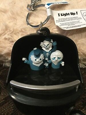 NWT Disney Parks Haunted Mansion Doombuggy Light Up Keychain Hitchhiking Ghosts