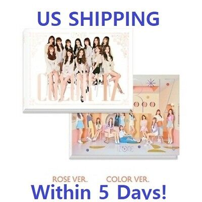 US SHIPPING IzOne-[Color*Iz]1st Mini Random CD+Book+Photo+Card+Tracking