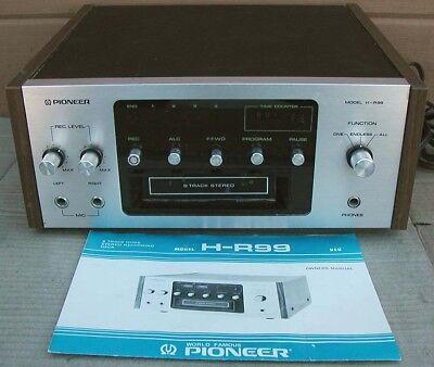 Vtg. PIONEER 8-Track TAPE DECK PLAYER / RECORDER H-R99~Plays~Needs some work