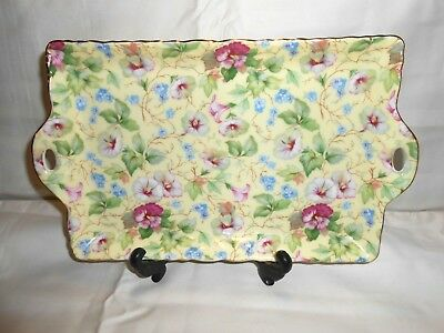 Chintz Collection by Royale Garden Staffordshire Rectangular Tray/Platter w1s5