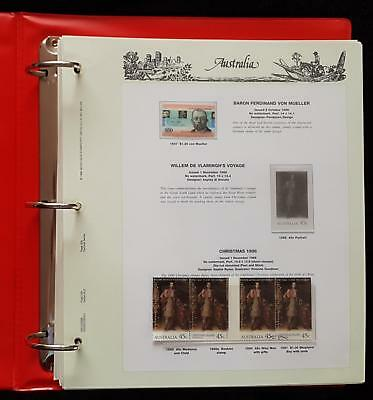 AUSTRALIA SEVEN SEAS HINGELESS STAMP PAGES 1994-96 123 pages  - inc CTO STAMPS