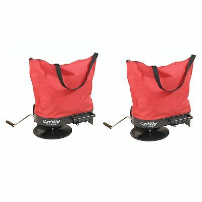 Earthway 2750 Hand Crank Garden Seeder Adaptable Fertilizer Spreader (2 Pack)