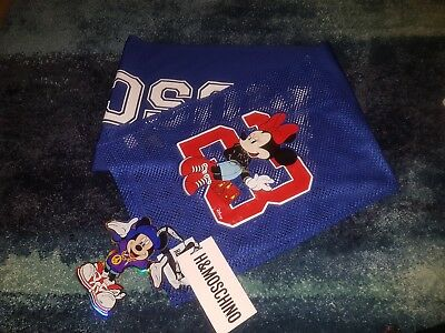 Moschino for h&m hm blue mesh scarf mickey Minnie mouse 23 BNWT