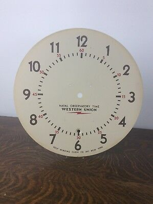 Self Winding Clock Co. Inc. New York Battery Electric Clock Dial