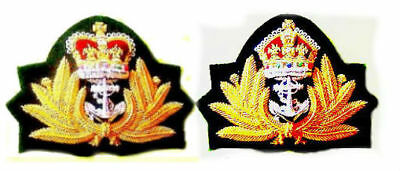 Uk British Royal Navy Officers Cap Hat Badge King & Queen Crown Cp Made Quality
