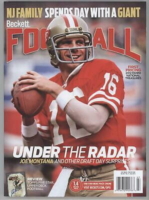 1989 1989-Now Beckett Football #7-13 July 2013 (Joe Montana) San Francisco 49ers
