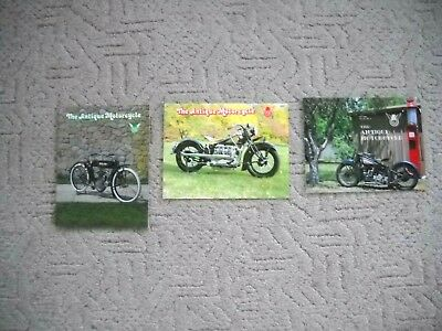 Lot Of 3 1980's  Issues Of The Antique Motorcycle Magazine