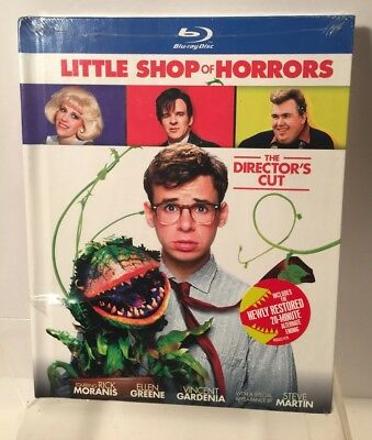 LITTLE SHOP of HORRORS (Blu-ray Disc, 2012, DIRECTOR'S CUT - DigiBook - NEW -