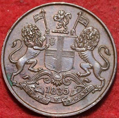 Uncirculated 1835 British India 1/4 Anna Foreign Coin