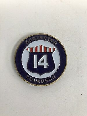United States Navy Destroyer Squadron 14 Challenge Coin RARE Military