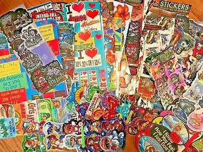 Vending Machine Stickers/Tattoos display cards lot of 100+ used