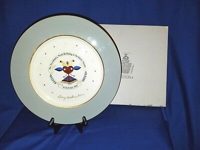 Rare 1953 Dwight Eisenhower Birthday China Plate 1st Edition w/Box-Castleton Chi