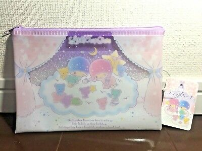 Sanrio Zipper Bag Flat Pouch Kiki & Lala Little Twin Stars Kawaii from Japan