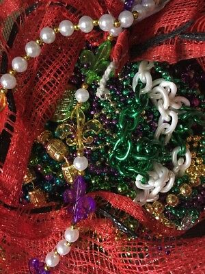 Mardi Gras Beads Necklaces lot  Authentic New Orleans 10+ pounds assorted