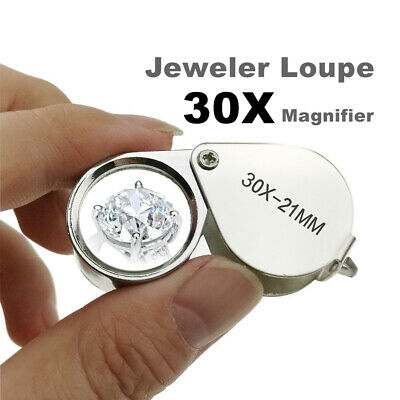 Jeweler Loupe Mini magnifying glass Loupe Magnifier Triplet Jewelers Eye Glass