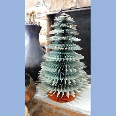"""vintage 25"""" CHRISTMAS TREE ACCORDIAN TISSUE PAPER beistle HOLIDAY DECORATION"""