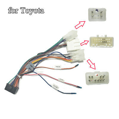 car stereo 20 pin wiring harness connector adapter 1din 2 din android for toyota Toyota Alarm Wiring
