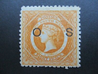 NSW Stamps: 8d Overprint OS Mint - Rare - Great Item    (R264)
