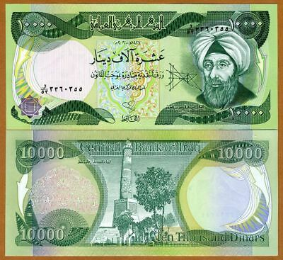 10,000 x 6 notes only Iraqi Dinar  UNCIRCULATED AUTHENTIC