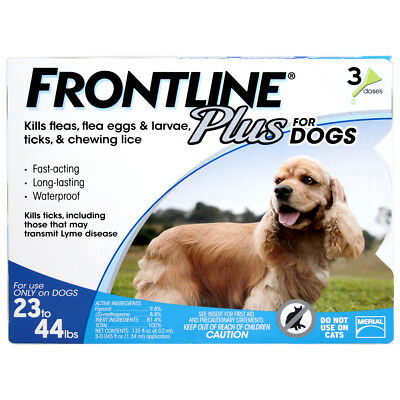 Frontline Plus Flea & Tick for Dogs 3 Month / 23-44 lbs