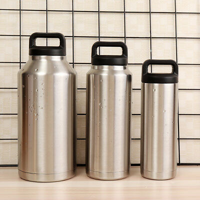 18oz/36oz/64oz Stainless Steel Vacuum Insulated Water Bottle Travel Thermos Cup