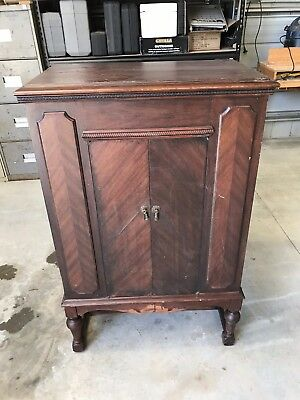 Allan & Co. 1930's Phonograph Radio Wireless Music Cabinet Console Radiogram