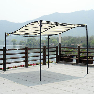 3m x 3m Pergola Gazebo Awning Canopy Sun Shade Door Porch Metal Frame Cover