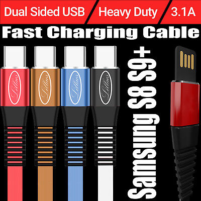 3A Fast Charging USB-C Data & Sync Charging Type C Cable For Samsung S8 S9+ Lot