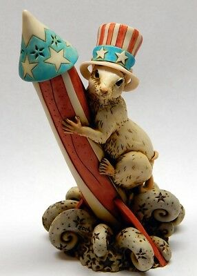 Harmony Kingdom art Neil Eyre Designs Mouse mice rocket USA top hat Uncle Sam
