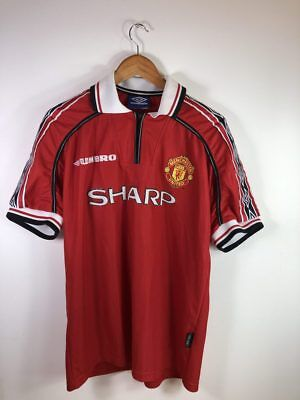 1998 Manchester United Home Shirt - Adult L
