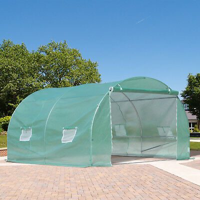 Walk-in Tunnel Greenhouse Garden Warm House Planting Shed Powder Coated