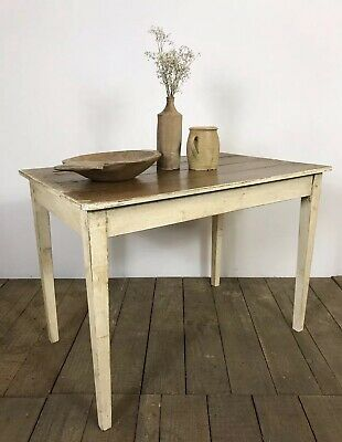 Lovely Vintage Antique Rustic French Original Painted Table