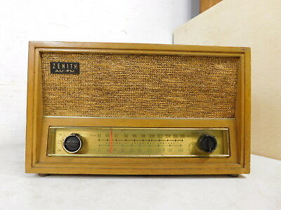 1950s Zenith Tube Table Top Deco Style AM FM Radio C730E - for parts