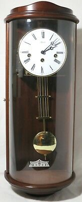 German HERMLE Pendulum Chiming Wall Clock - Working Thames Hospice W 112A