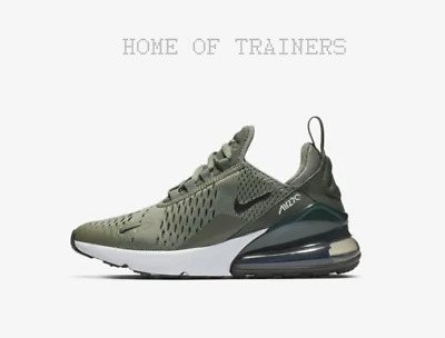 23ee93c008 Nike Air Max 270 Vintage Lichen Mineral Spruce White Kids Boys Girl Trainers