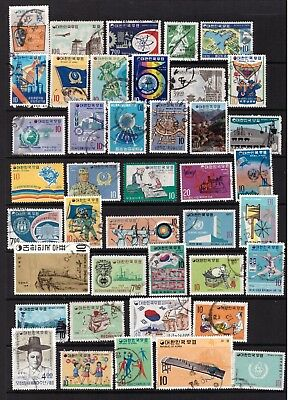 Korea South used stamps selection