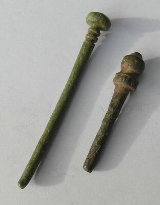 Collectable Lot Of 2 Roman Bronze Pins