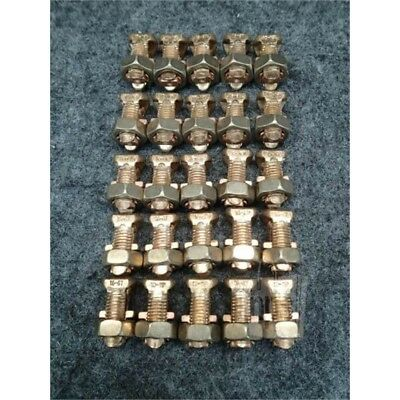 Lot of 25 Burndy KS17-3 Split Bolt Connector, 8 STR-6 SOL, Copper